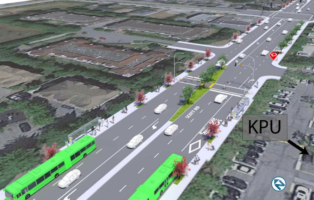 r6 scott road rapidbus kwantlen polytechnic university