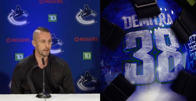 Halak pays tribute to Pavol Demitra on new Canucks goalie mask
