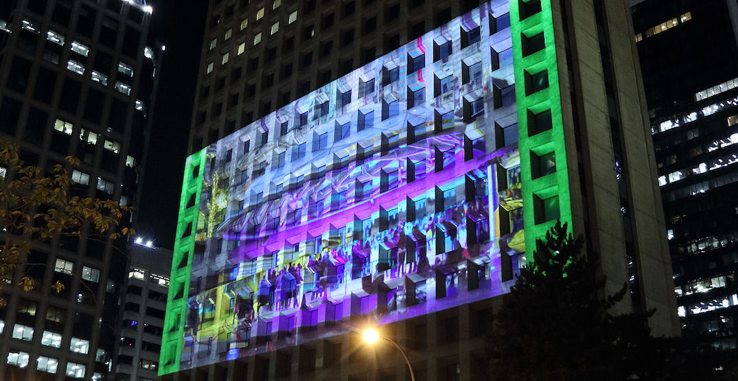 Vancouver tower illuminated by 3D projection light show (PHOTOS, VIDEO)