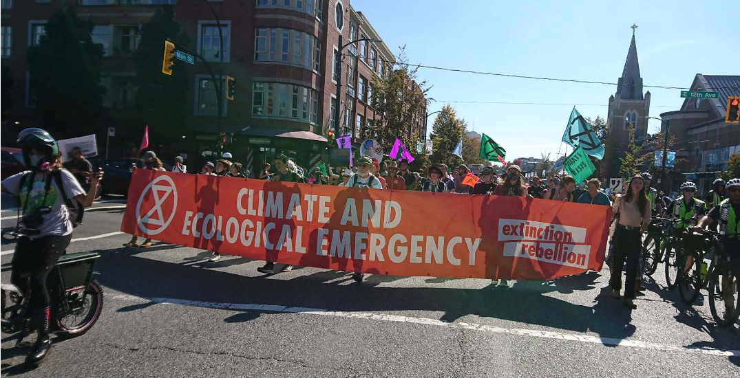 One arrested after climate protestors block Mount Pleasant intersection