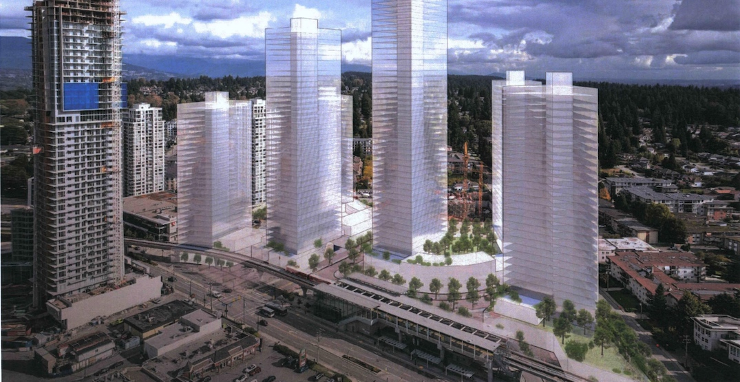 Up to 2,175 rental homes proposed for major development at SkyTrain Burquitlam Station