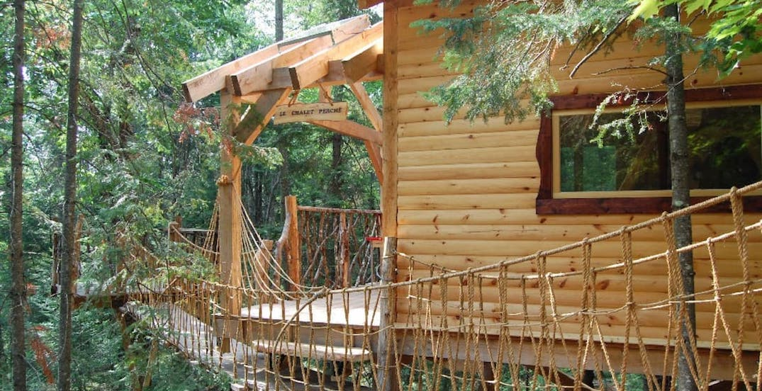 Cozy Airbnb treehouses just outside of Montreal to rent this fall