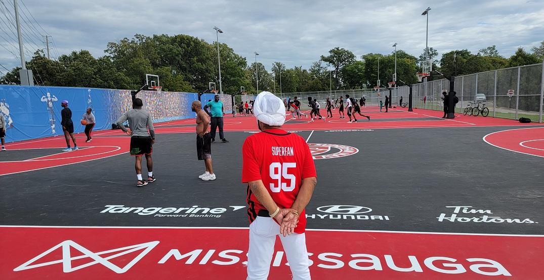 Raptors superfan Nav Bhatia unveils four new basketball courts