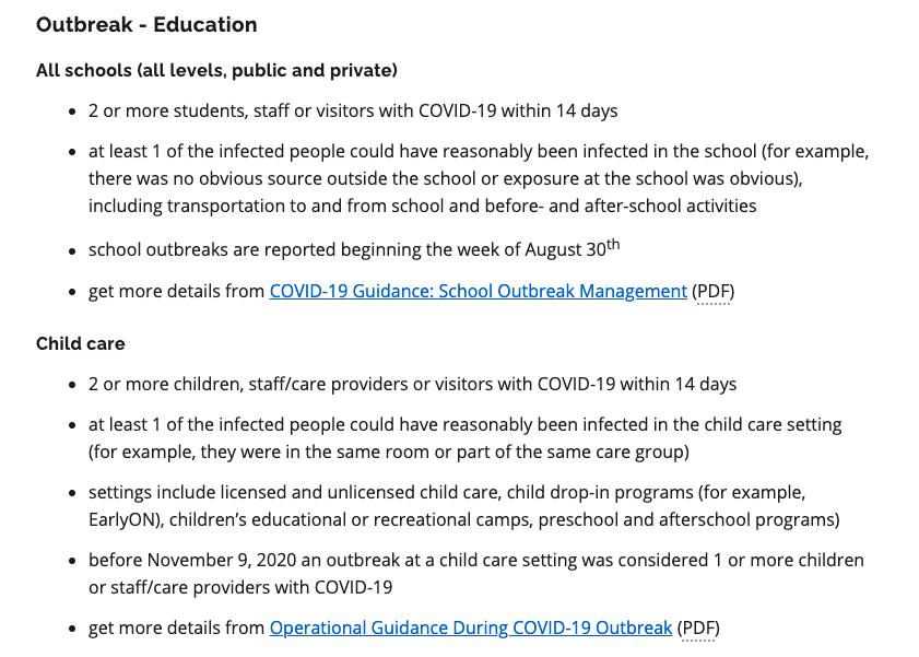 School outbreak