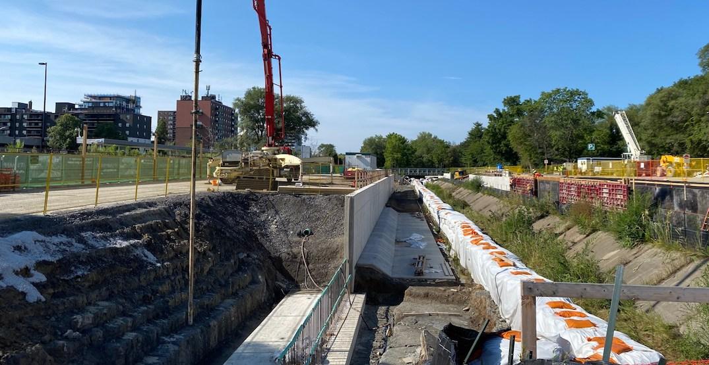 Hurontario LRT work is underway with massive excavations (PHOTOS)
