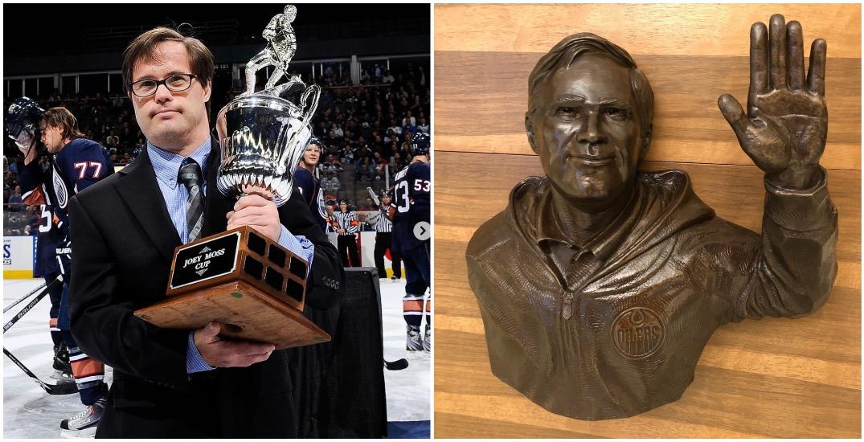 Edmonton Oilers unveil new statue honouring Joey Moss