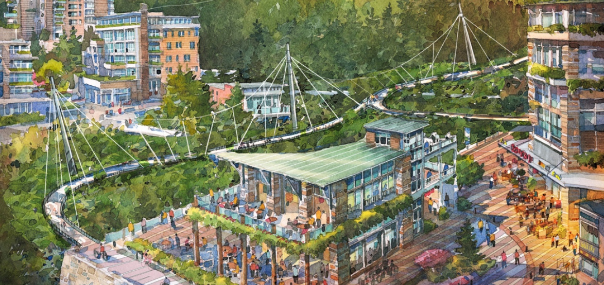 Homes for 7,000 people, retail district proposed below Cypress Mountain (RENDERINGS)