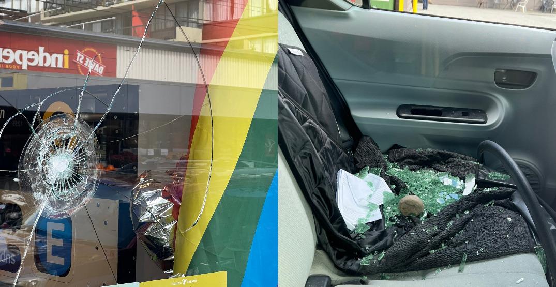 Three windows smashed in five minutes on Davie Street