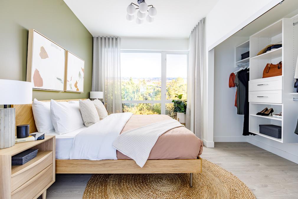 Bedroom in Harlo condo development