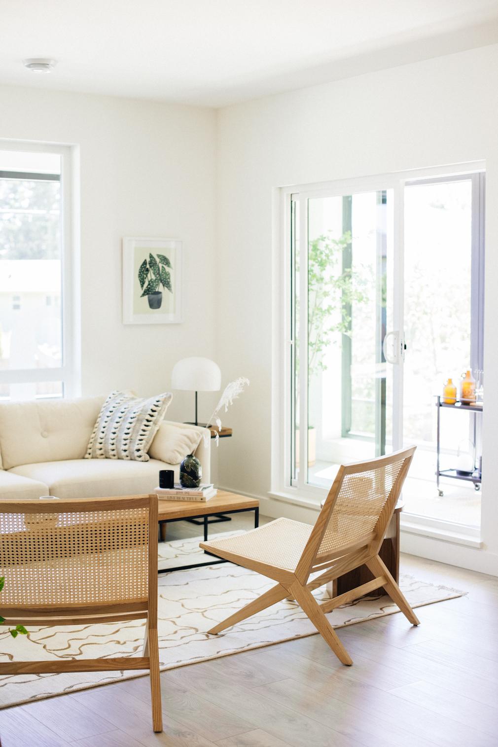 Living room in Harlo condo development