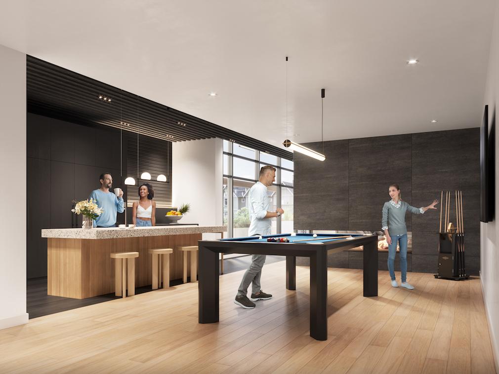 Rooftop lounge at Harlo condo development