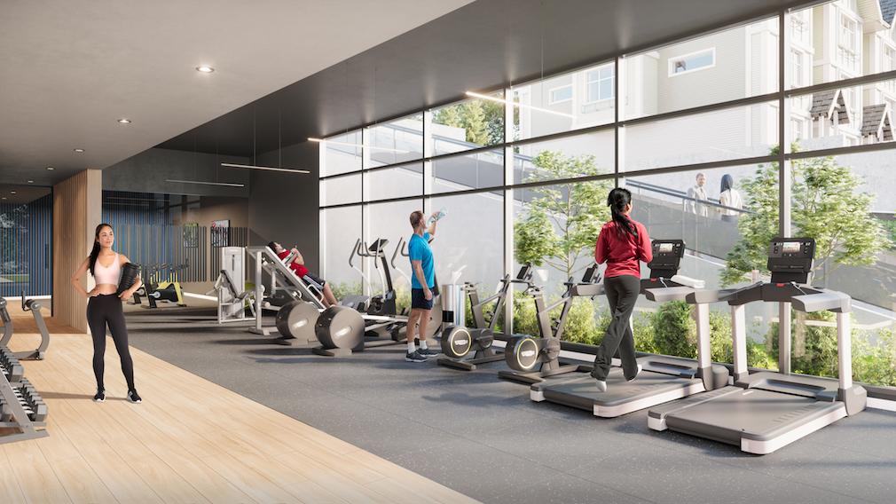 Gym at Harlo condo development