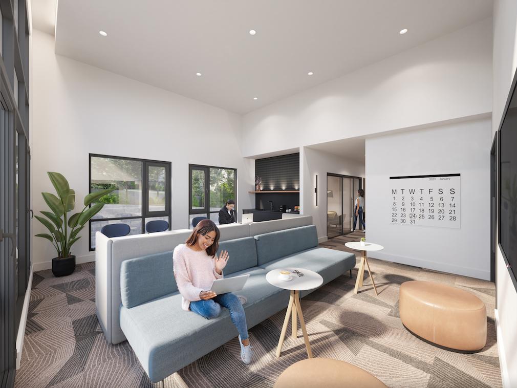 Co-working space at Harlo condo development