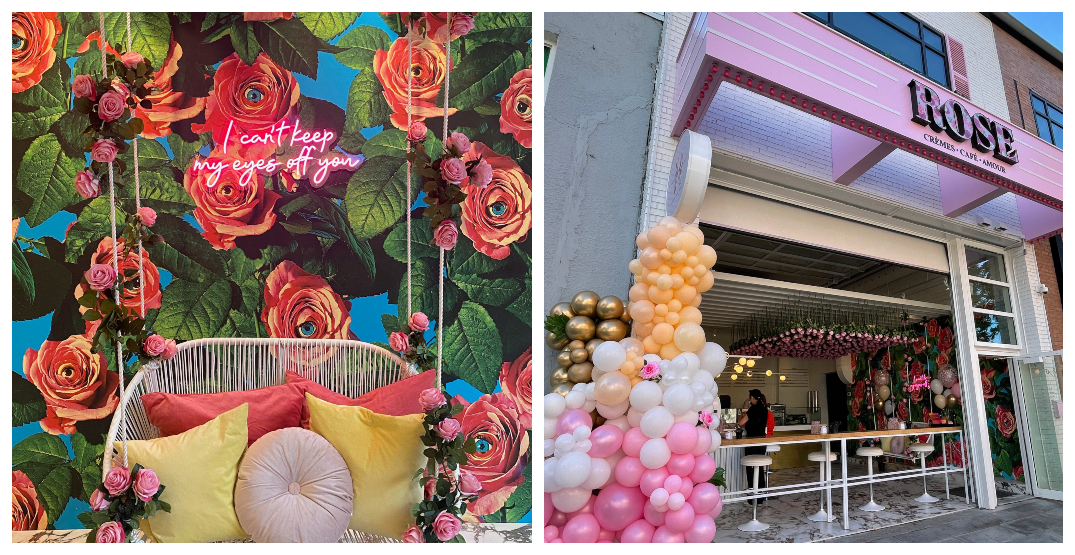 Montreal's newest cafe is bursting with colours, flowers, and flair