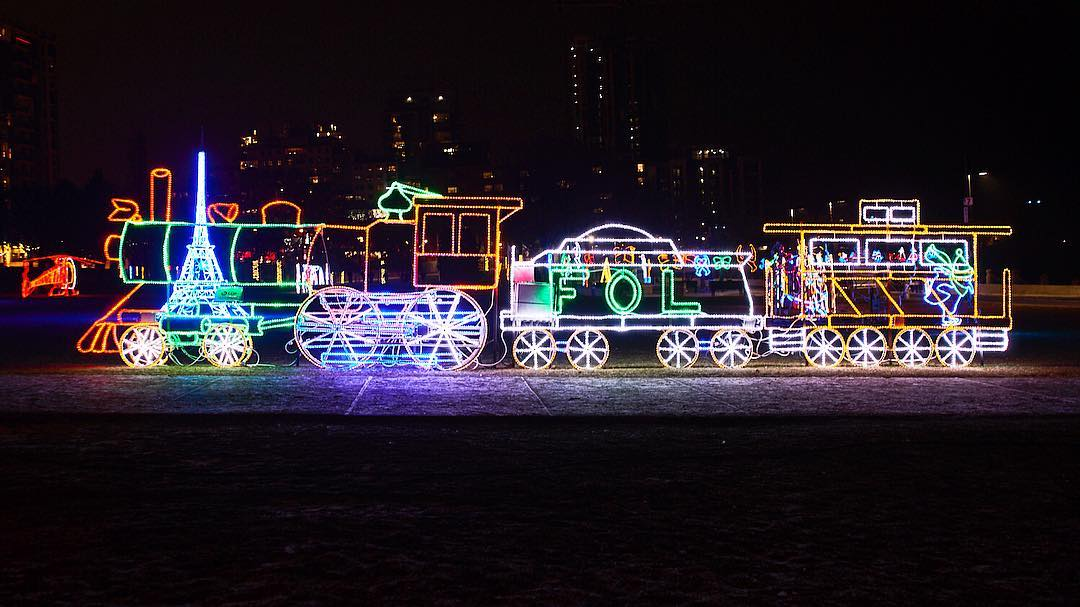 There's a waterfront light festival near Toronto this winter