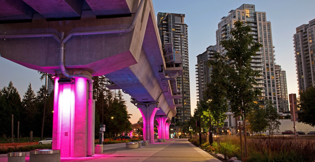 City of Burnaby to install special lighting on 5 km of SkyTrain Expo Line