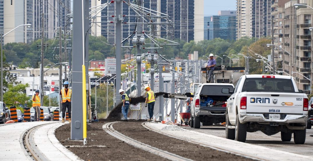 Final pieces of Eglinton Crosstown LRT track are being put down