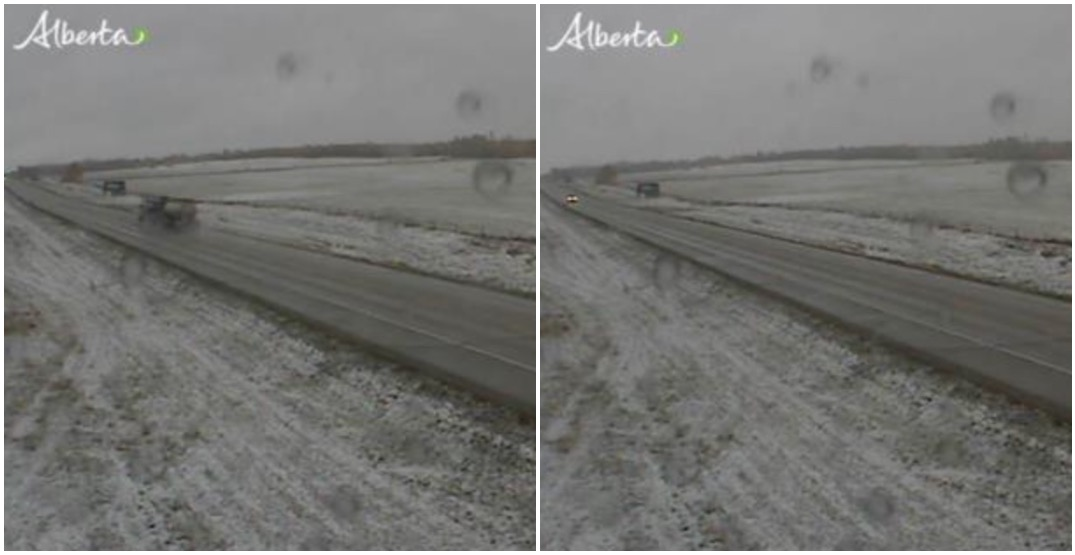 Alberta has skipped autumn with snow falling in the province