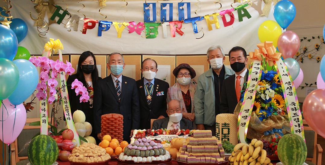 """Smile often"": Canada's oldest man celebrates 111th birthday in BC"