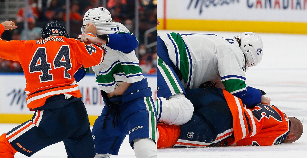 """Kassian """"in good spirits"""" after scary-looking injury suffered in fight with MacEwen"""