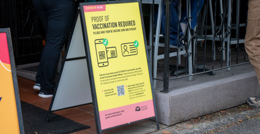BC gave out 5 violation tickets to businesses since vaccine pass rollout