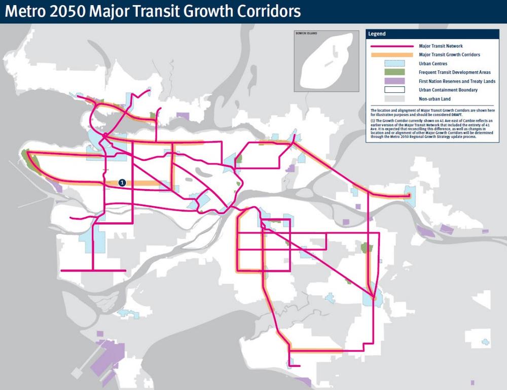 translink transport 2050 transit growth corridors