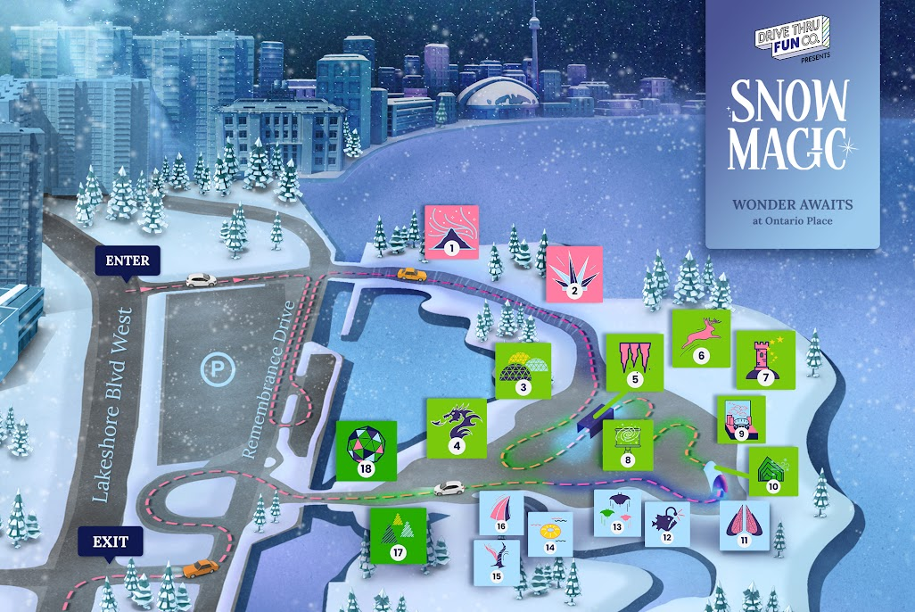 There's a winter wonderland drive-thru event at Ontario Place this holiday season