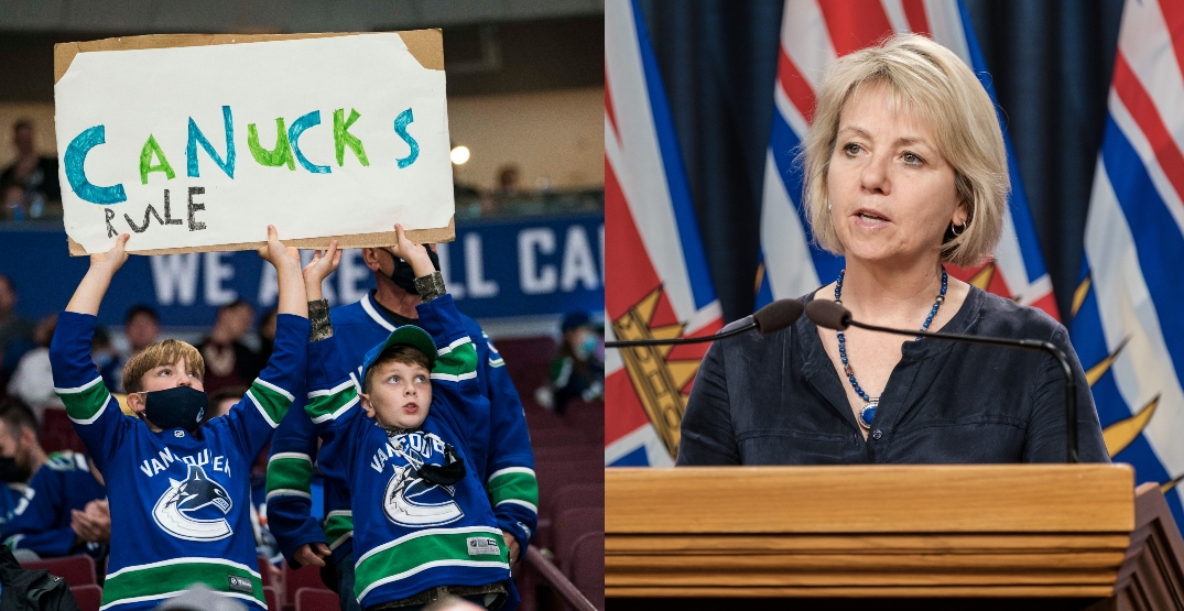 Dr. Henry: Decision on 100% capacity at Canucks games will be made this week