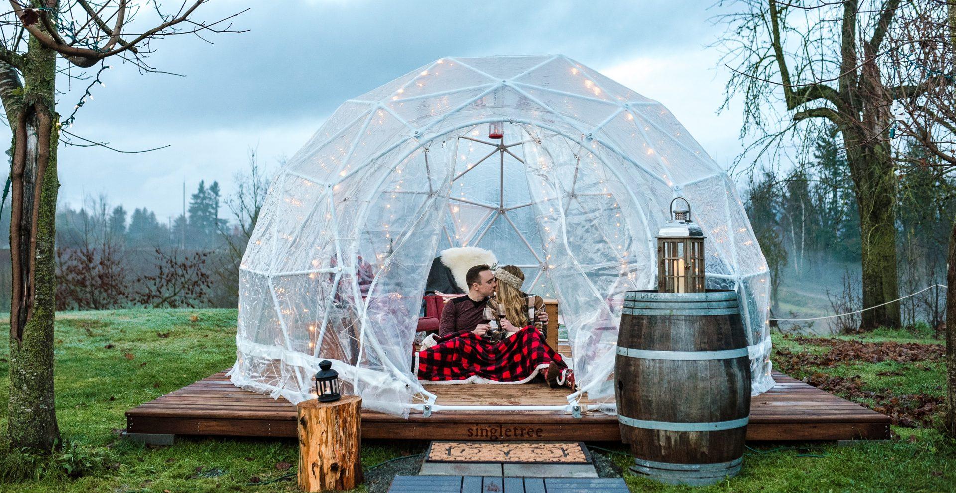Metro Vancouver's dreamy wine domes are a romantic date night idea
