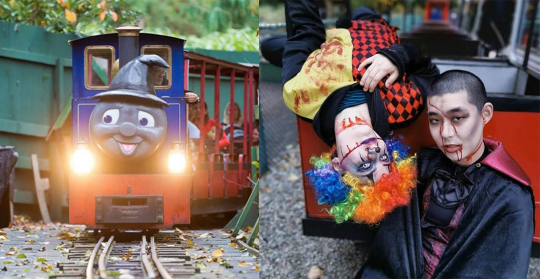 Halloween train transforms from cute to scary every night at sunset