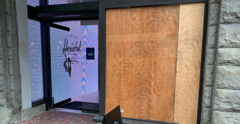 Herschel in Gastown latest victim of vandalism in downtown Vancouver