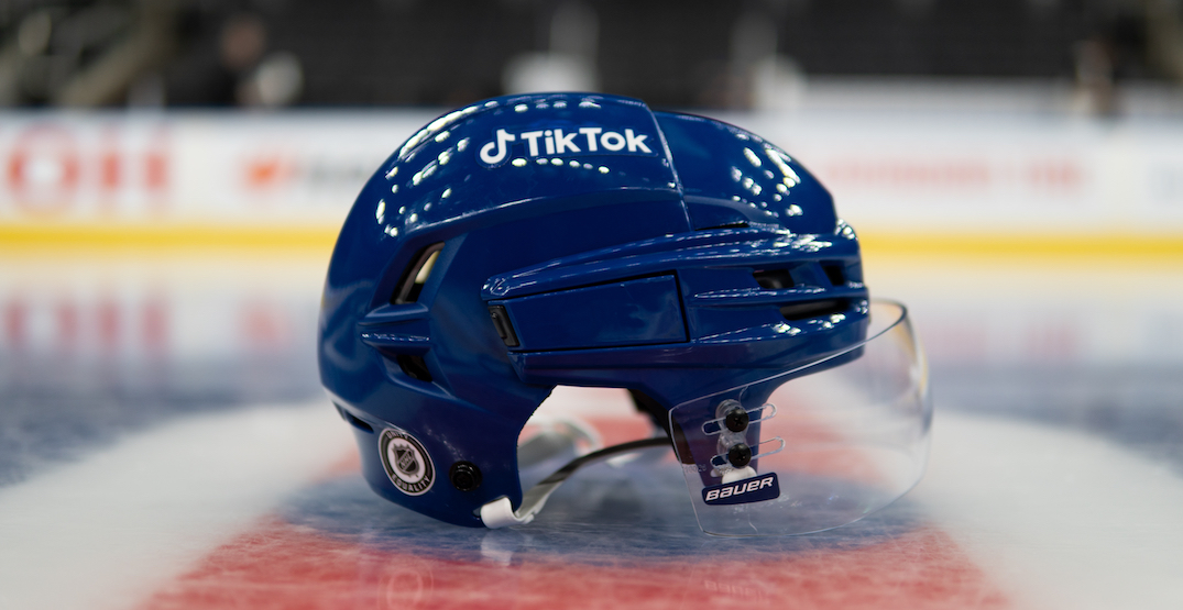 Maple Leafs player helmets will have TikTok ads on them this season