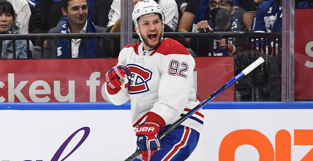 Tributes pour in for Jonathan Drouin after scoring in Canadiens return