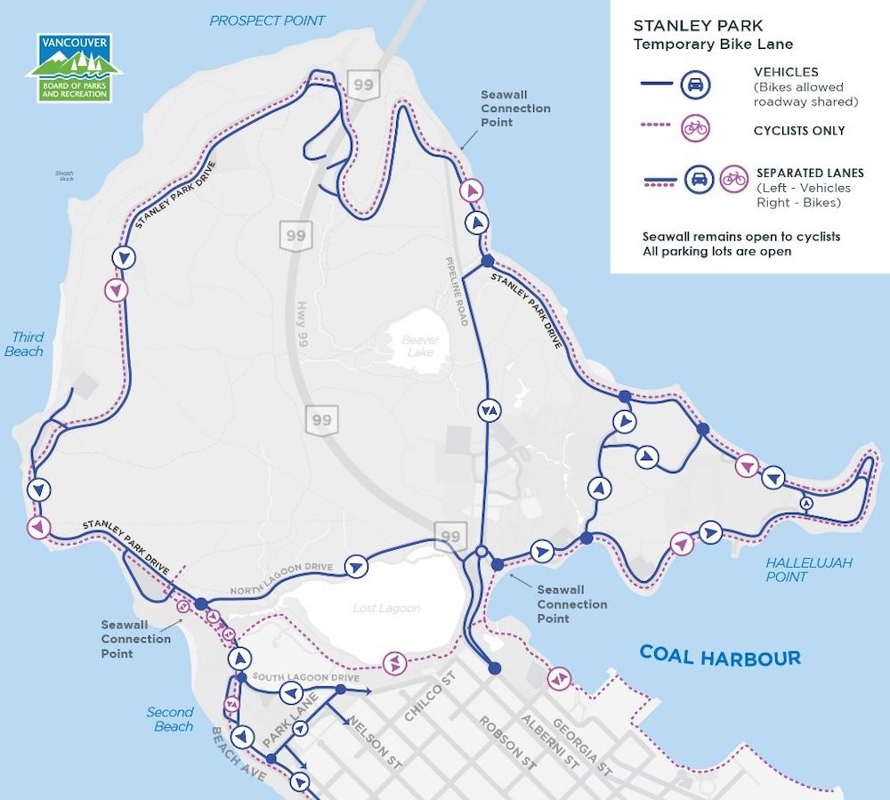 stanley park drive 2021 bike lane