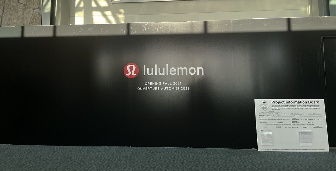 Lululemon pop-up coming to the Vancouver International Airport