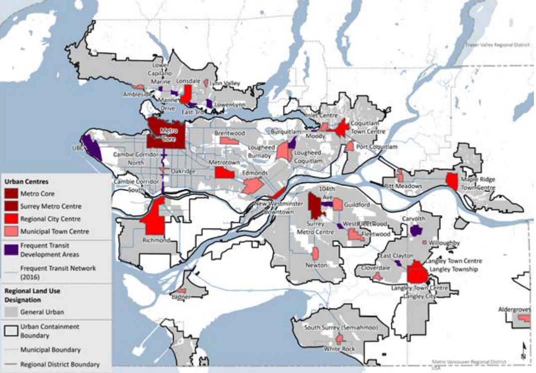 metro vancouver urban centres metro 2050