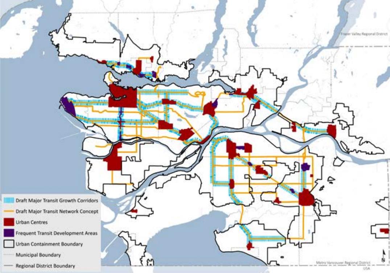 metro vancouver transit corridors metro 2050