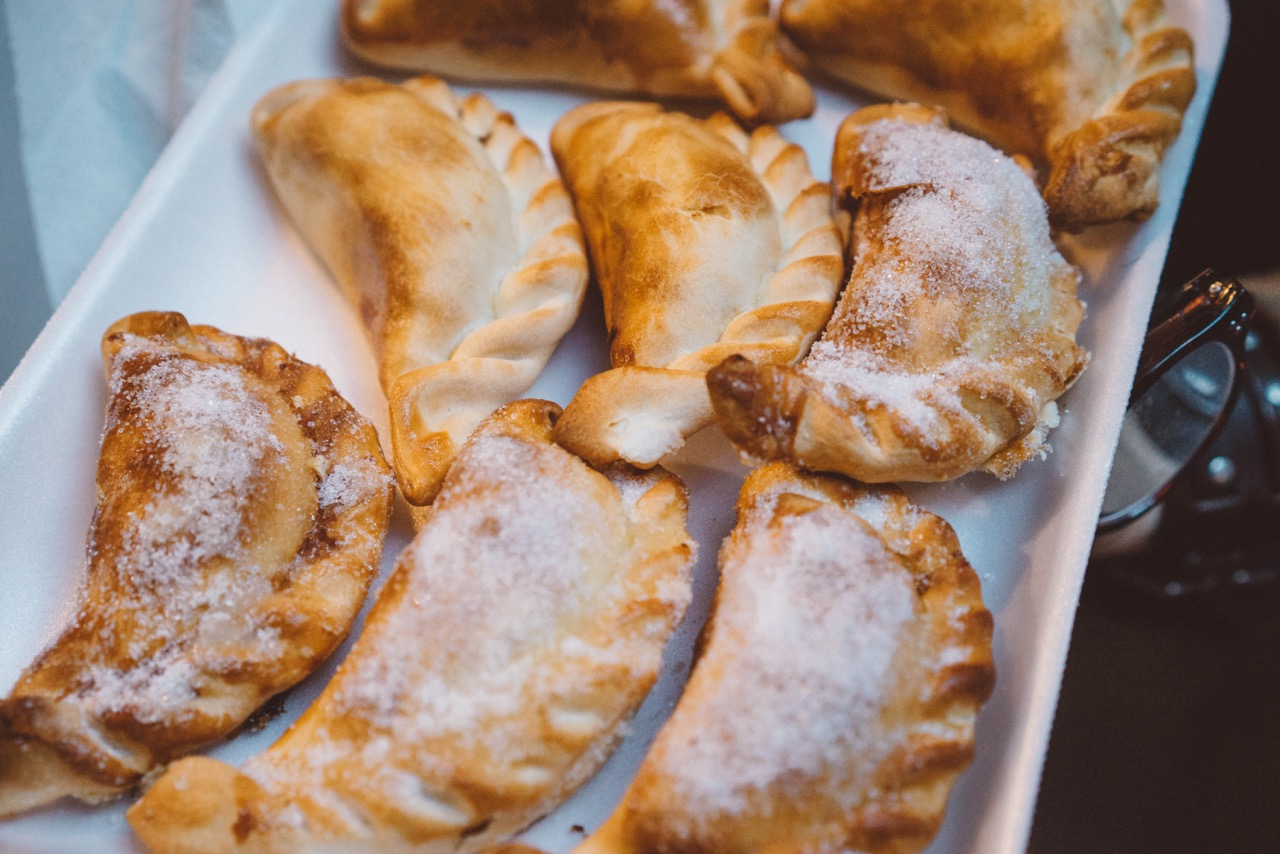 Baked Empanadas served with Almond Chimichurri