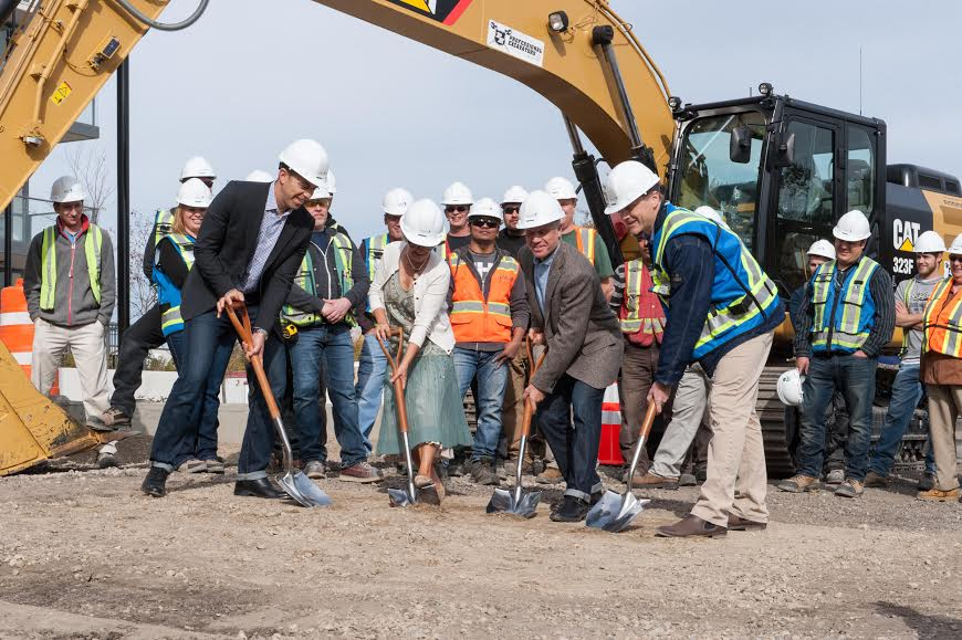Calgary groundbreaking construction