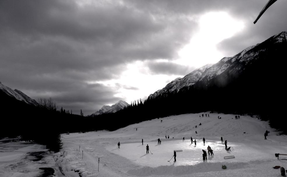 Skating in Banff