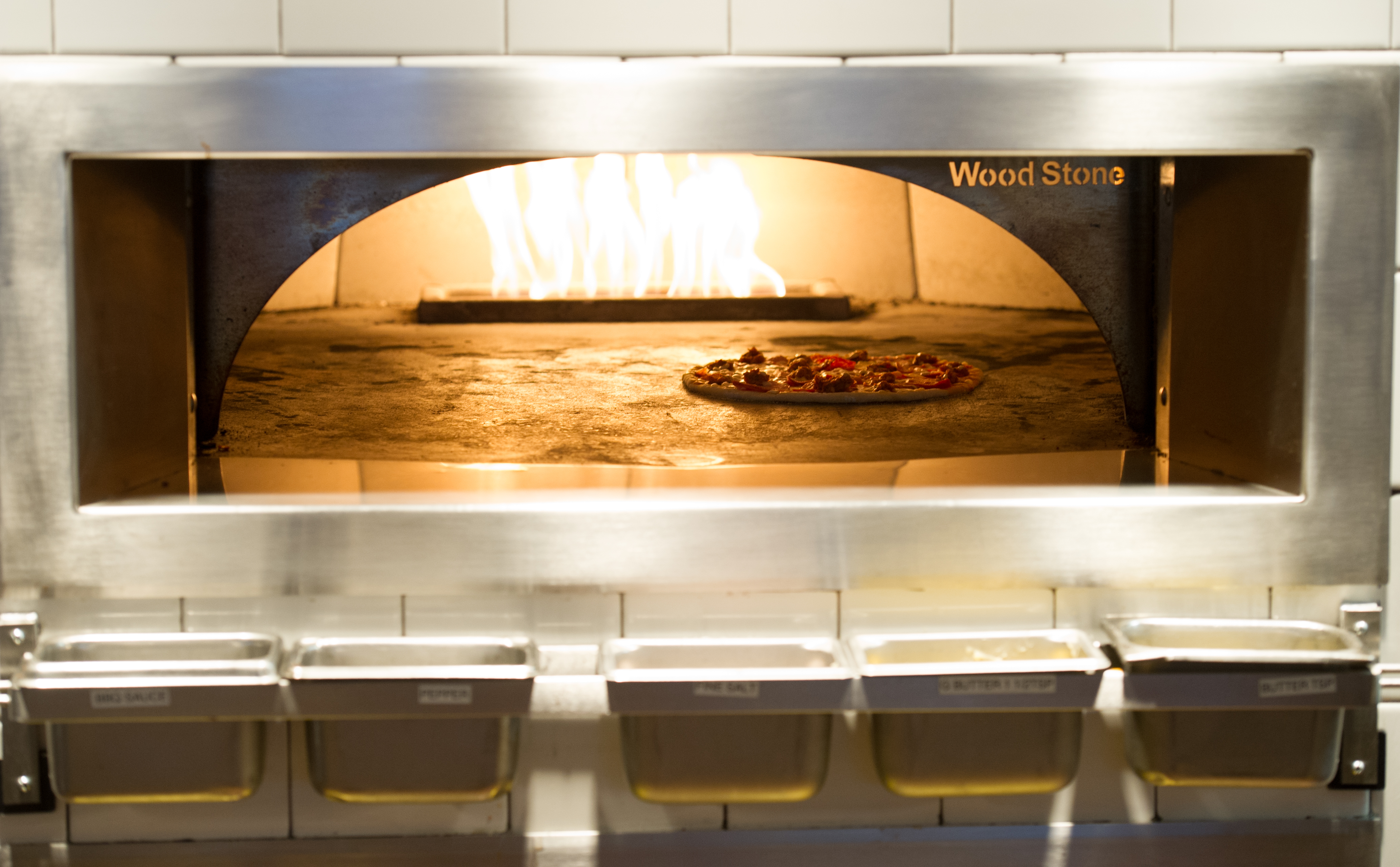 Image: Wood Stove oven at Earls