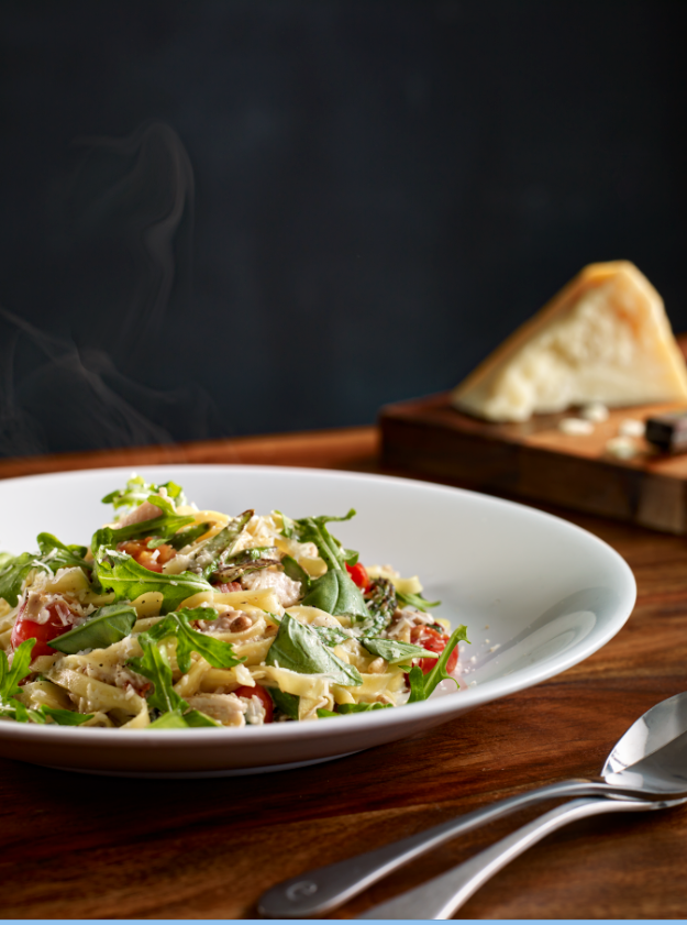 Image: Confit Chicken and Pancetta Fettucini