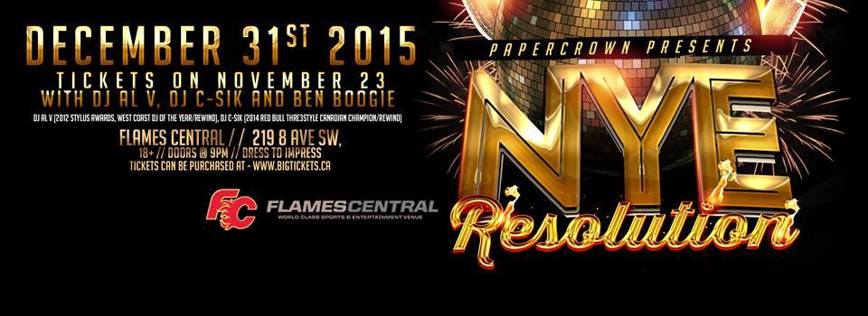 Image: NYE: Resolution w/ DJs Al-V, C-SIK and Ben Boogie via Facebook