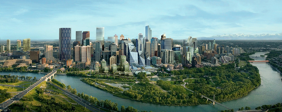 Calgary Future Skyline Render