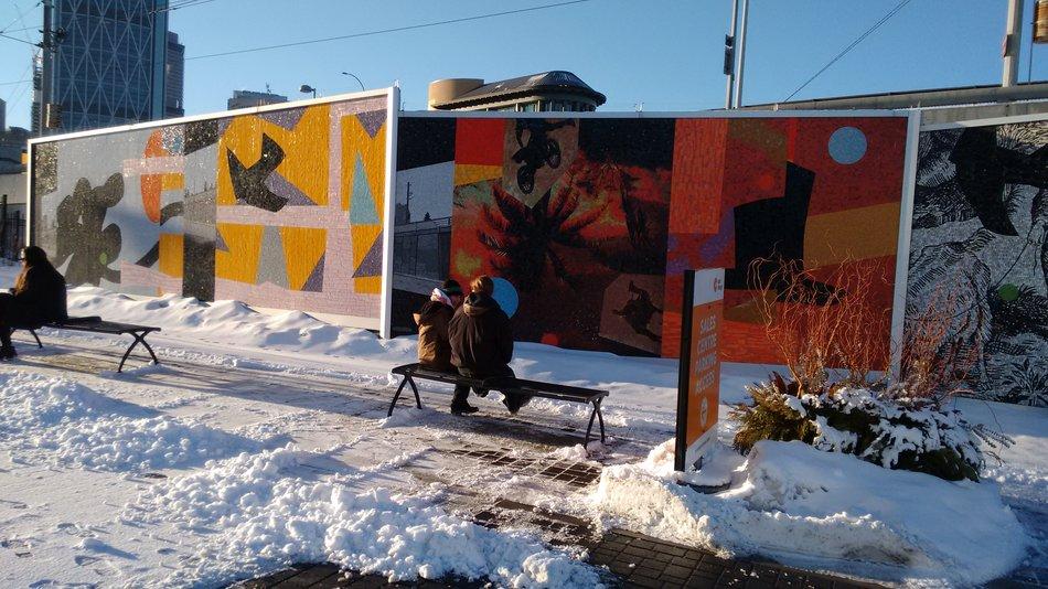 Image: Ron Moppett's mosaic wall/ Kaitlyn Johnson, Calgary Buzz