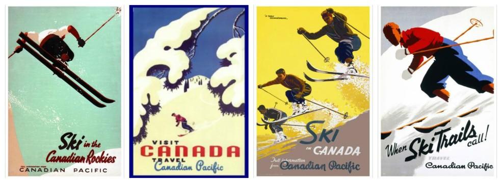 Vintage Ski Posters CP
