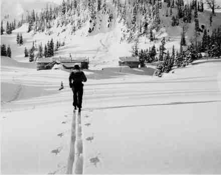 Hiking in to Sunshine in 1939