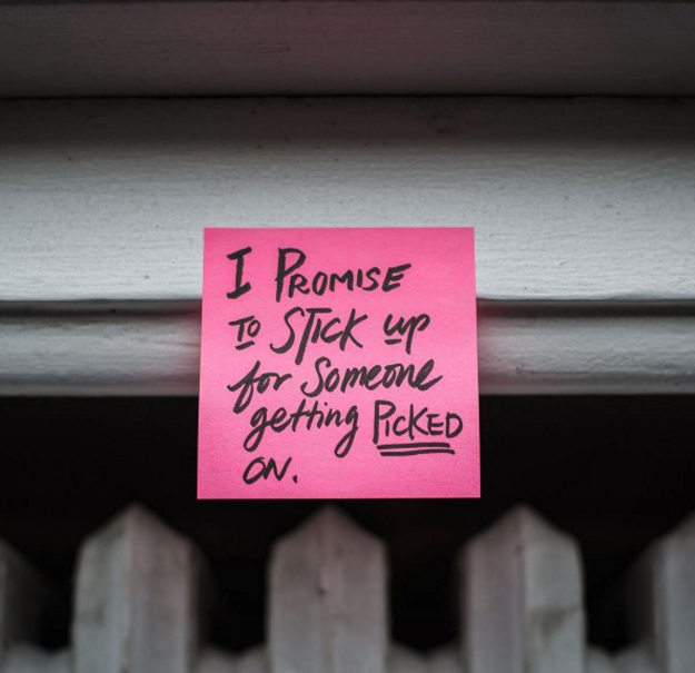 Image: #PinkShirtPromise Twitter post