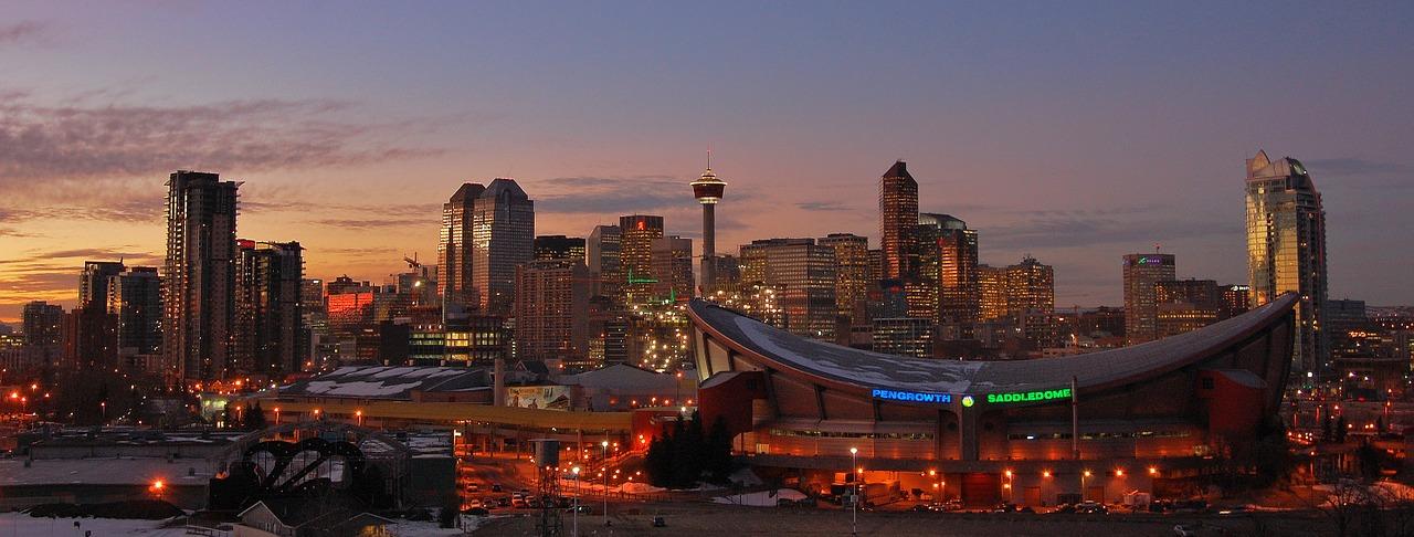 Image: Calgary sunset via Pixabay
