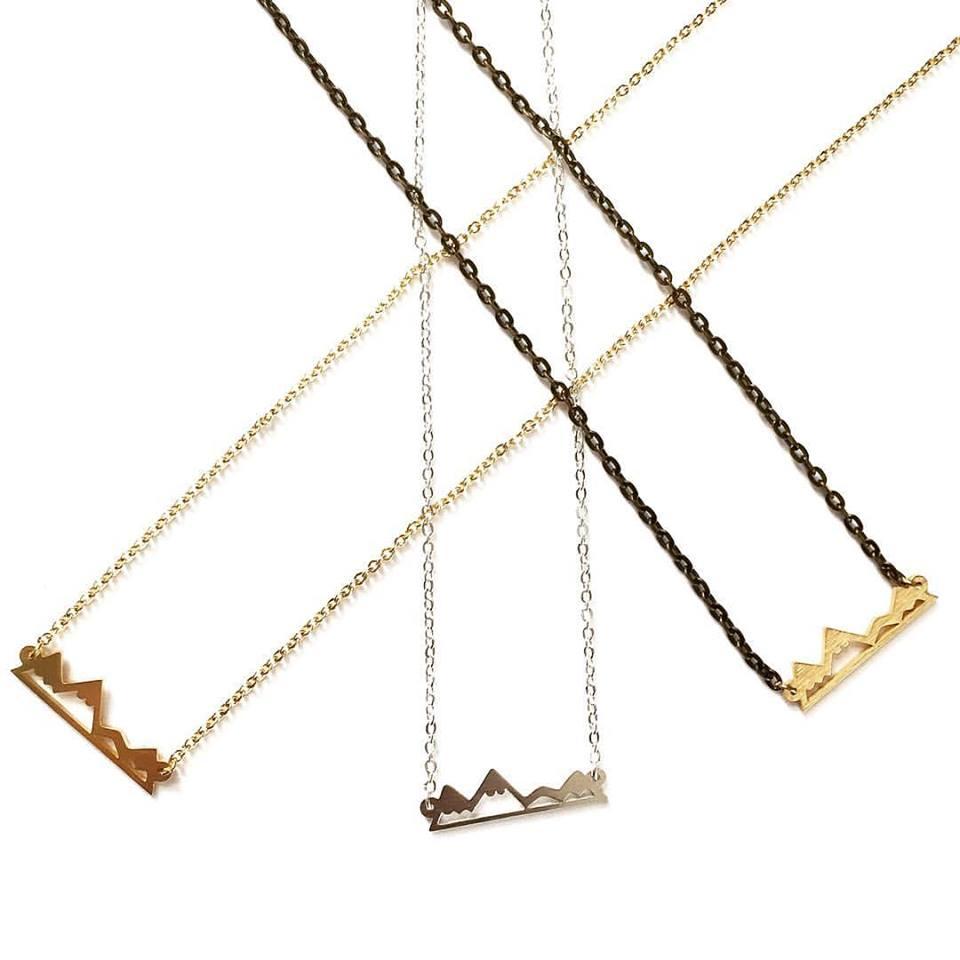 Alpine necklace / Lace Brick Design